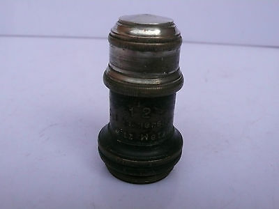 Leitz Wetzlar Microscope 112 Oel Oil Immersion Objective Apert 1.30 Lens