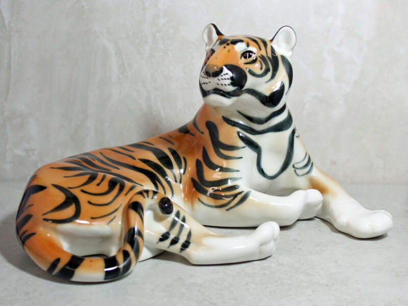 Tiger Porcelain Figurine Russian Made