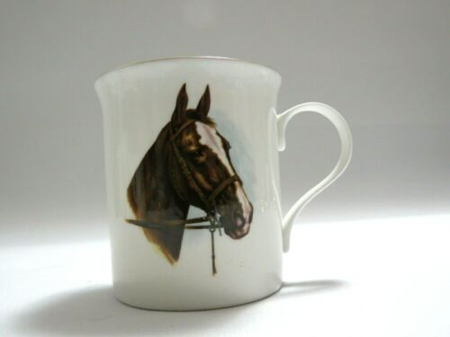 Crown Trent Fine Bone China Coffee Tea Mug Horse Staffordshire England 4896