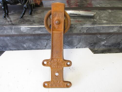 4 NEW OLD ANTIQUE TYPE ROLLING BARN DOOR TRACK HANGER CAST IRON