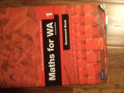Maths for WA 1 Homework Book Pearson