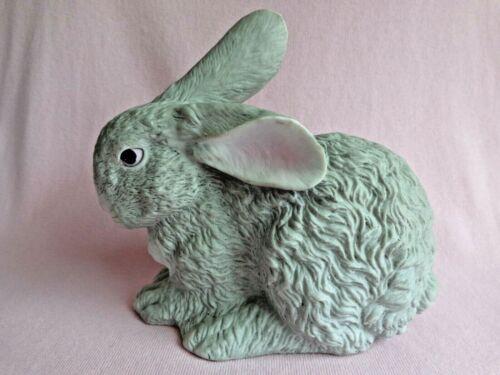 Bunny Rabbit Figurine - Gray - Ceramic - Porcelain - Easter Spring Décor
