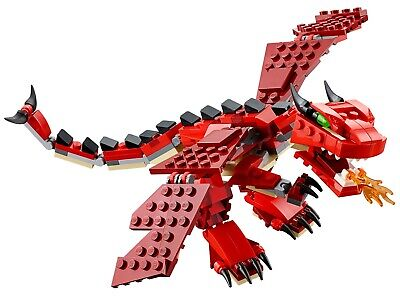 LEGO Creator 3 in 1 Red Creatures 31032 Complete No Instructions