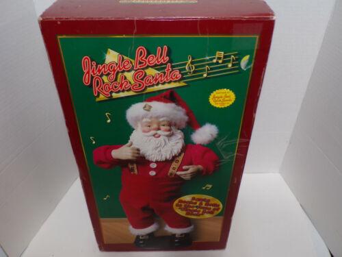 1st Edition Jingle Bell Rock Santa Animated Musical Dancing Santa Claus 1998