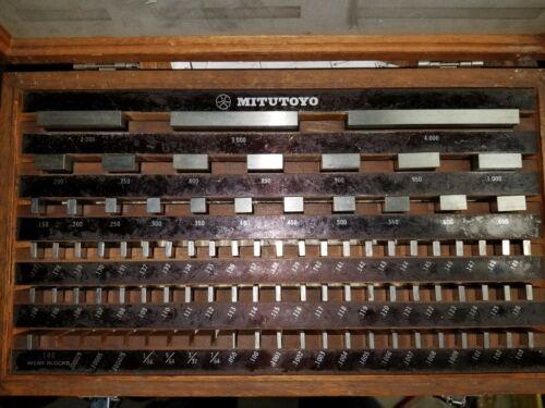 MITUTOYO 81 PC. GAGE BLOCK SET BE1-81-3 GRADE 3 516-903