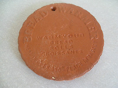 Vintage 1980s: Terracotta Round Bread Warmer: Pottery / Clay