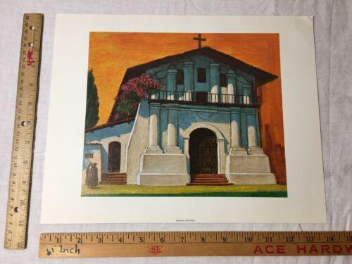 Amado Gonzalez San Francisco CA Mission Dolores Exterior Art Print Vintage