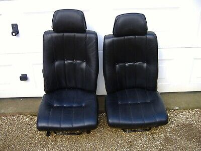 LEFT AND RIGHT FRONT LEATHER SEATS FOR  VOLVO 240 AND 260 IN GOOD CONDITION