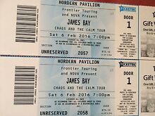 2 James Bay tickets - Saturday 6th February - Hordern Pavillion Pyrmont Inner Sydney Preview