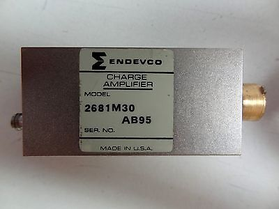 Endevco Charge Amplifier Model 2681m30 Gain Range 1-100 Free Shipping