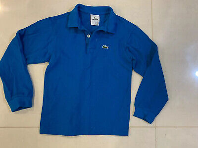 Lacoste Kids Boys Blue Long Sleeves Polo Shirt Top Size 8
