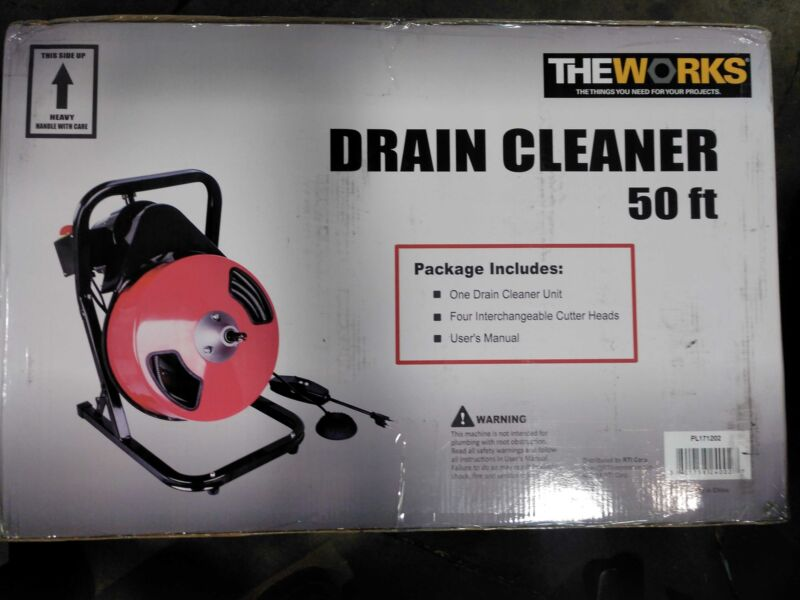 THEWORKS 1/2 in. x 50 ft. Compact Drain Cleaner Machine