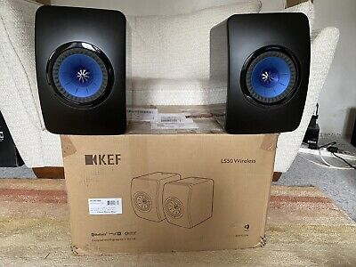 Kef LS50 Wireless Speakers Black Blue