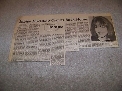 August 13 1974 The Roanoke Times Shirley Maclaine Comes Back Home Mal Vincent