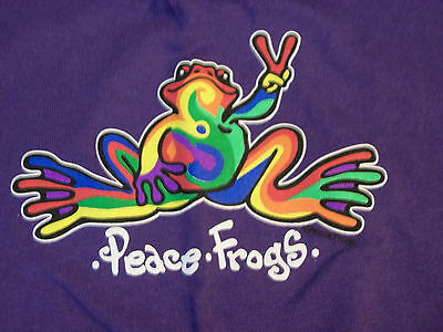 PEACE FROGS PURPLE RETRO ADULT XLARGE T-SHIRT