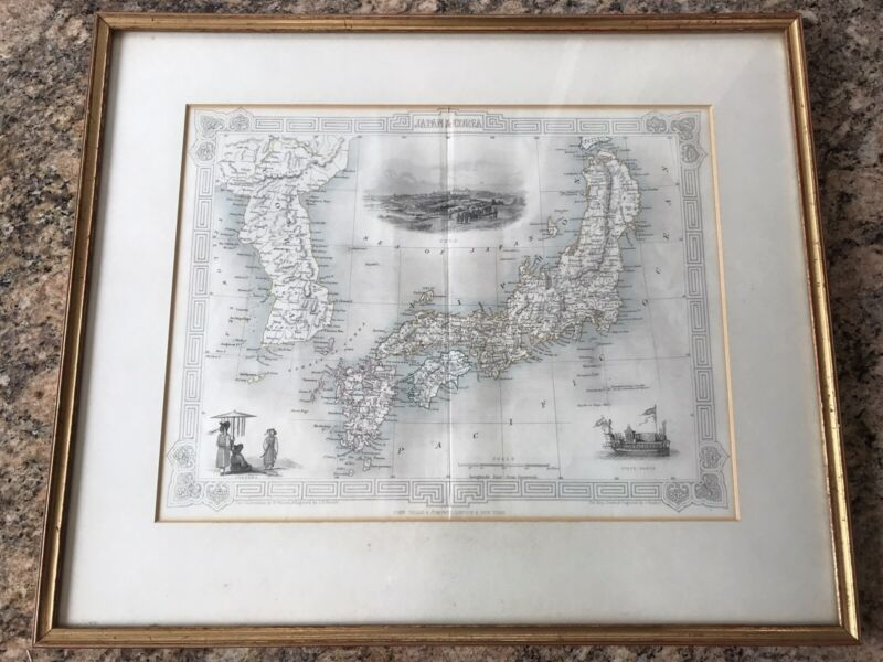 Tallis & Co. Antique Map of Japan and Korea