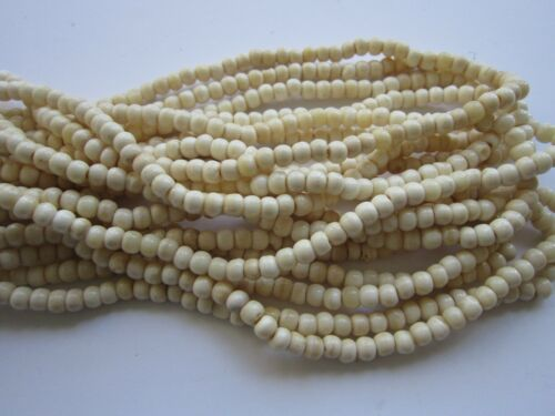 Buffalo Bone Round Beads Off White  6mm  8mm 10mm  Jewelry Crafts 1 strand