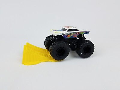 Hot Wheels Monster Jam Avenger truck with stunt ramp 1/64th scale