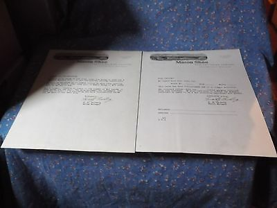 Two Pieces Vintage  Mason  Shoe Letterhead Letters Chippewa Falls Wis  Age Unkno