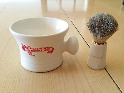 Vintage COLONEL ICHABOD CONK SHAVING MUG REIN DACHS GERMANY CREAM BRUSH Colonel Conk Shaving Mug