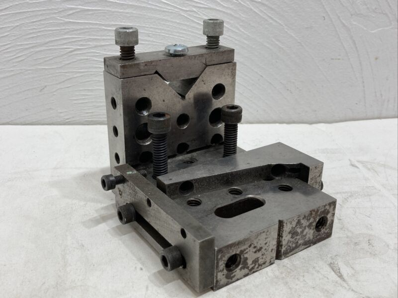 ANGLE PLATE TOOLMAKER MACHINIST PART + CLAMPS / WEDGES