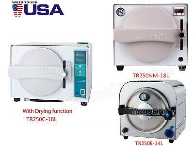 Dental Autoclave Steam Sterilizer Medical Sterilization 14l18l Lab Equipment