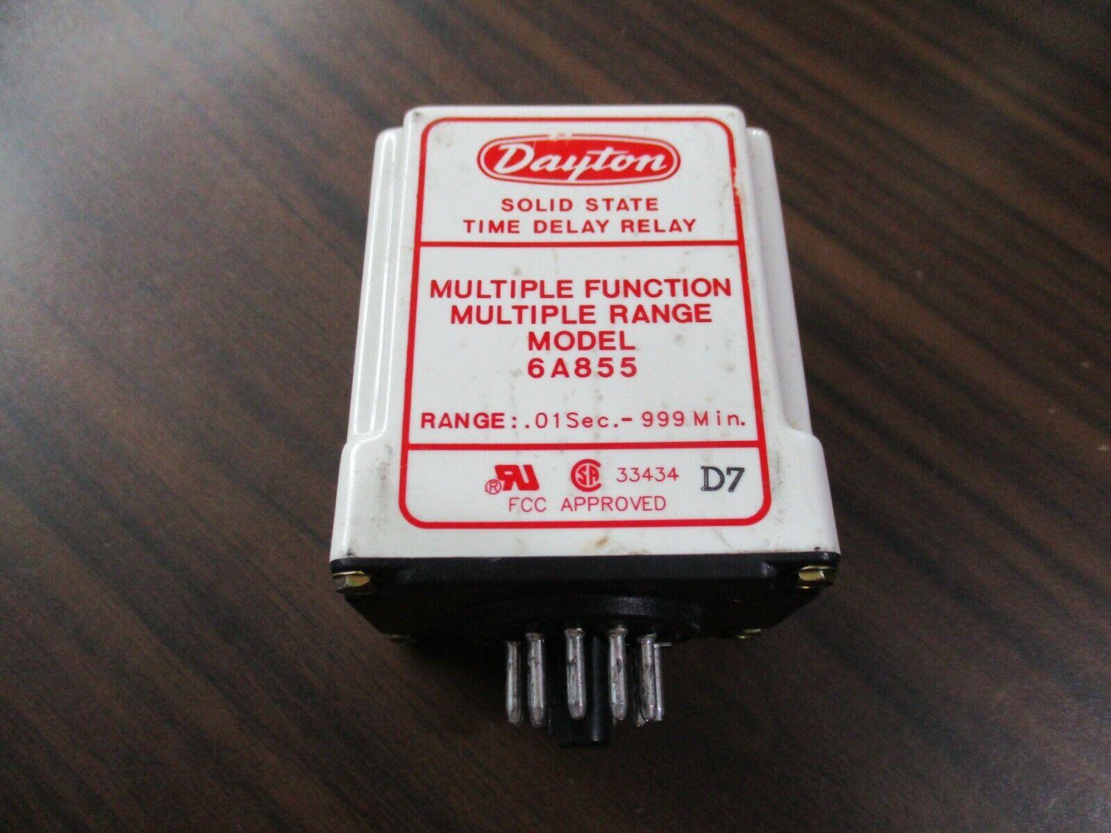 Dayton 6A855 Multiple Function Multiple Range Solid State Timer 120V  - $29.50