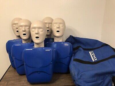 5x Cpr Prompt Cpr Training Emt Adult Manikins Mannequins Simulator Dummy W Bag