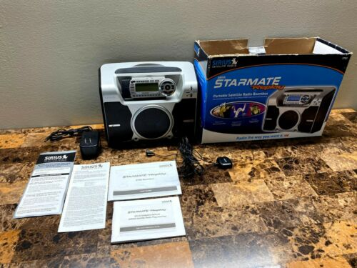 SIRIUS ST2 Starmate Radio Receiver Replay ST-B2 Boombox & Antenna & Box Preowned