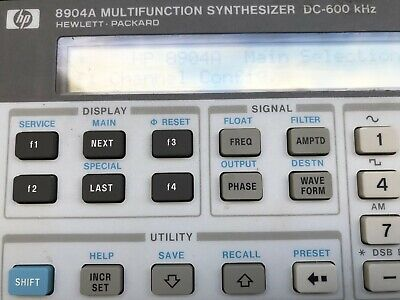 Hp Keysight 8904a Multifunction Synthesizer Dc-600 Khz