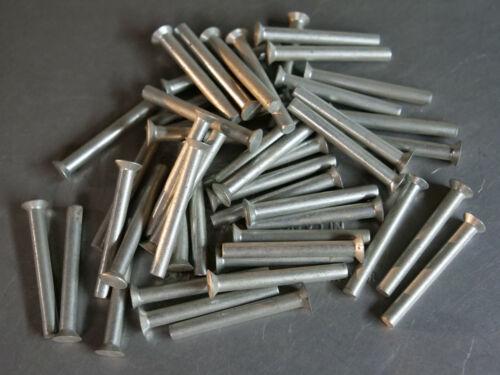 Solid Rivet 3/16 Dia x 1 9/16 Length Steel Coated Countersunk Head 10ea