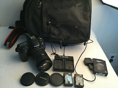 Canon EOS 70D 20.2MP Digital SLR Camera w/ EF-S 18-135mm Lens +Extras