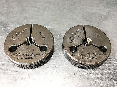 38 20 Ns Left Hand Gtd Thread Ring Gages .375 Go Pd .3425 Nogo Pd .3399 Lh