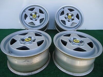 Classic Wheels Rims - SET OF (4) CLASSIC FERRARI MONDIAL 180 TR 390 FACTORY WHEELS RIMS
