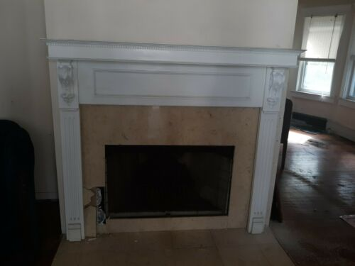 VINTAGE FIREPLACE MANTLE NICE STYLE 5 FT X 53   WE SHIP!!!!!!!!!