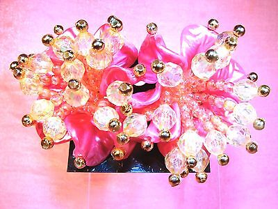 Party~CUSTOM MADE Pink~Clear Pair EARRINGS STUD Backs Multi-Faceted Beads* ](Halloween Couple Customes)