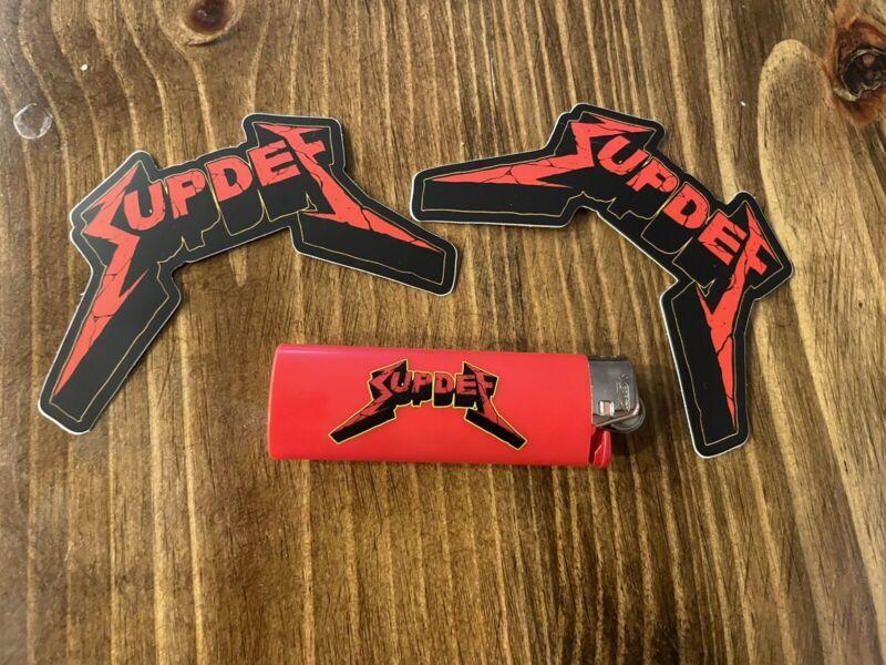 Superior Defense Suptallica Metallica BIC Lighter + Stickers! Not FOG WRMFZY