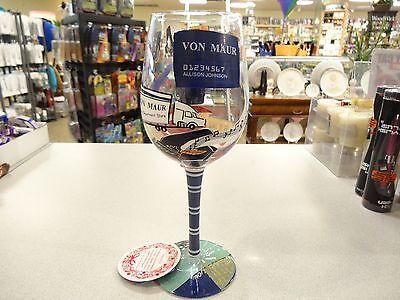 Lolita Von Maurs Recipe For Legendary Service Wine Glass Custom Rare Retired