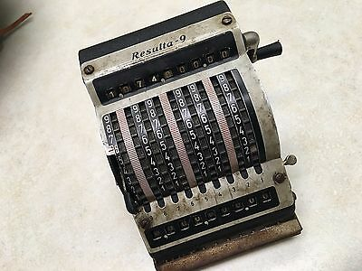 ANTIQUE GERMAN MECHANICAL TOOTHED-WHEEL CALCULATOR RESULTA-9
