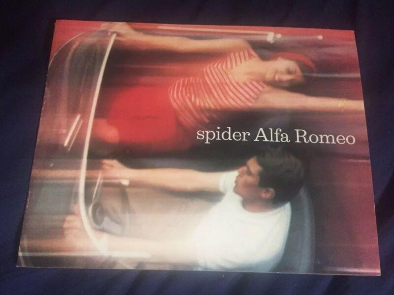 1965 Alfa Romeo Giulia and 2600 Spider Large Color Brochure Catalog Prospekt