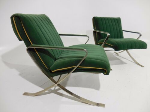 2 Vintage Bernhardt Flair Lounge Chairs 70
