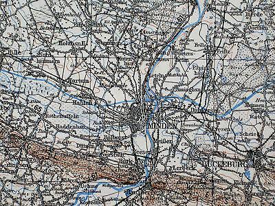 85 MINDEN, 1:200.000, 1956, Übersichtskarte des Deutschen Reiches