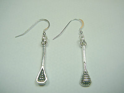 Sterling Silver Lacrosse Earrings, French Wires
