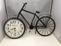Vintage Novelty 19 Bicycle Clock Kensington Station London Wall or Shelf Clock