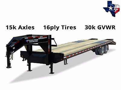 Brand New Texas Pride 8 X 35 305 Gooseneck Equipment Trailer 30k Gvwr
