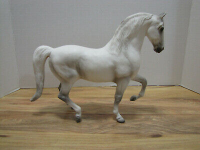 "Breyer Horse Pluto the Lipizzaner White/Grey 11"" long Breyer Reeves"