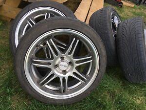 Mags 17po 4x100 et pneus  205 45 R17