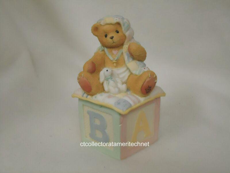 Cherished Teddies Covered Box Baby 1996  NIB