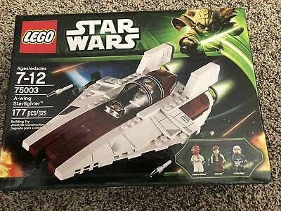 Lego Star Wars 75003 A Wing Starfighter Han Solo Ackbar Retired 2013 New Sealed