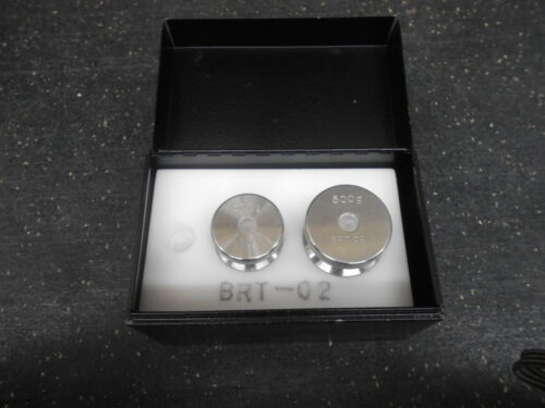 LOT OF 2 BRT-02 500g & 300g STAINLESS STEEL CALIBRATION WEIGHT